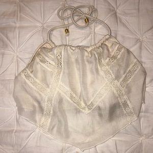 Victoria's Secret High Neck Crochet Bikini Top